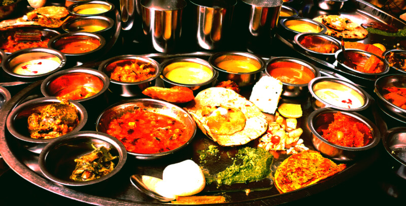 Typical Indian Thali