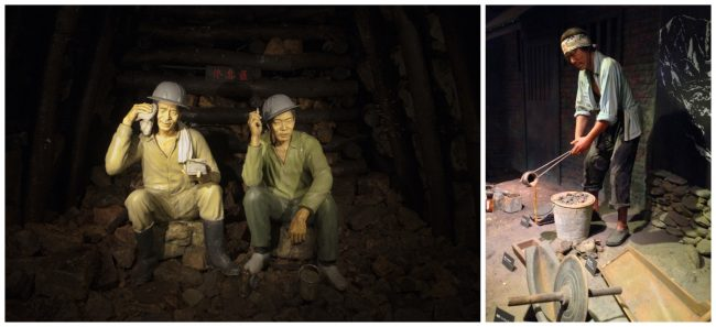 glimpse at the miners' lives through these wax models